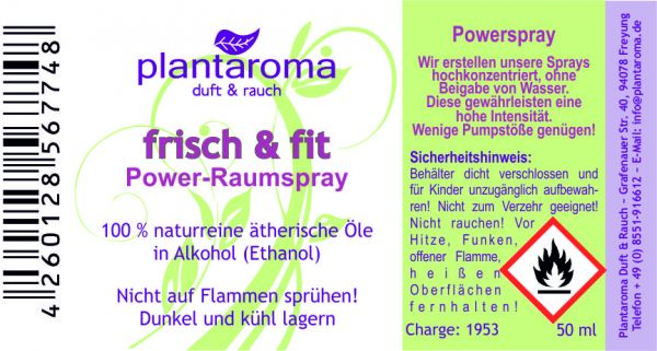 Power-Raumspray - Frisch & Fit