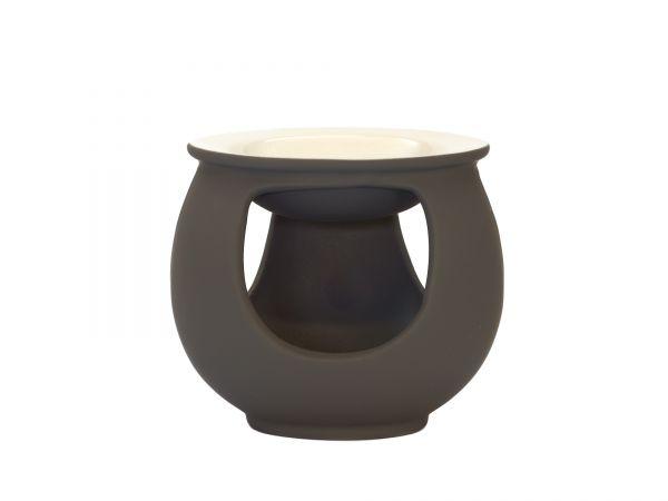 Duftlampe Trio, Keramik, grau