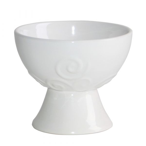 Helena creme, Räucherkelch - Keramik glasiert