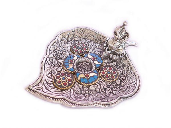 Stäbchenhalter Glückselefant, Weißmetall