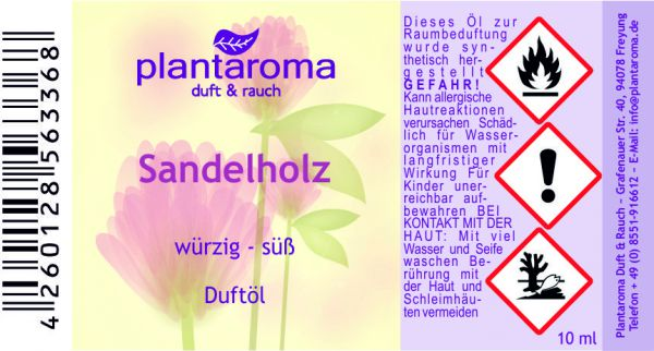 Sandelholz, Duftöl